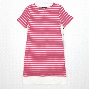 Tommy Hilfiger Pink and White Striped Dress